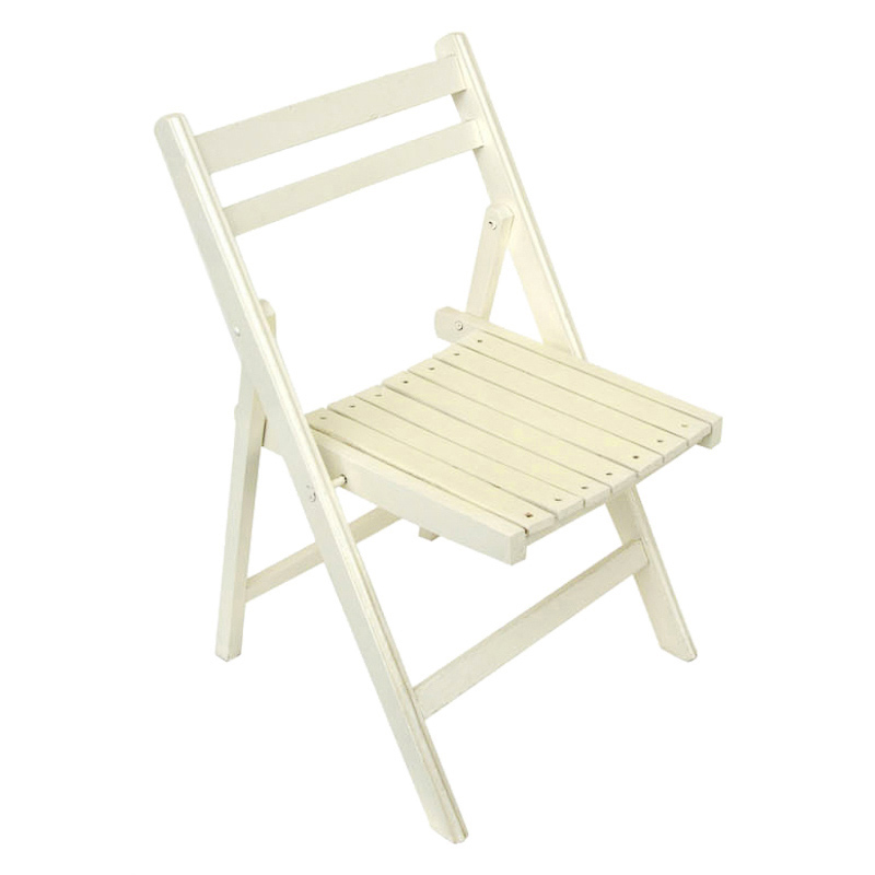 Chaise jardin bois blanche pliante assistance for Chaise blanche bois